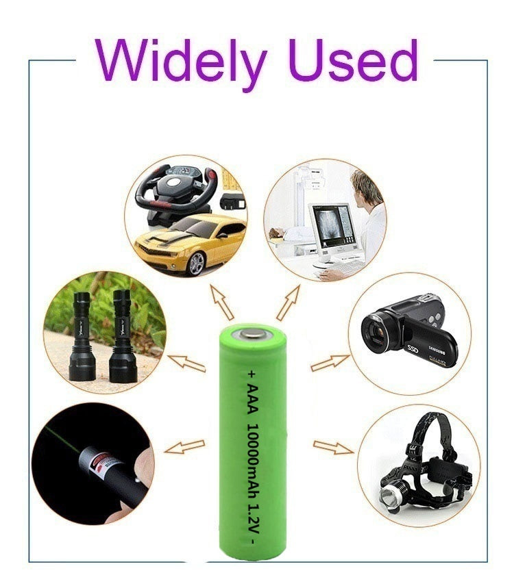 Factory Outlet!!1.2v AAA rechargeable NI-MH batteries 10000mah for led flashlight remote control toys camera clock RCCAR 4-10PCS