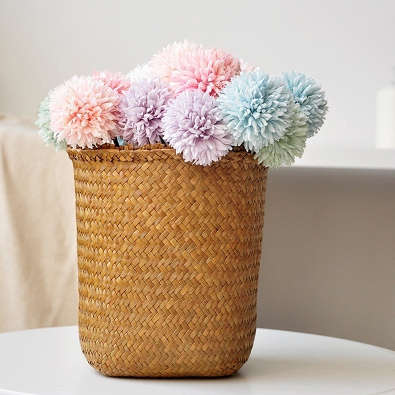 5 Pcs Dandelion Flower Ball Simulation Road Cited Artificial Flower Wall Fake Flower Home Decoration Wedding Holding Flower