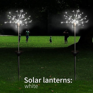 2/1 PCS New Garden Solar Light Firework String Light Globe Dandelion Lamp For Garden Lawn Landscape Lamp Holiday Light Outdoor Patio Pathway Decor 150/120/90/30 LED