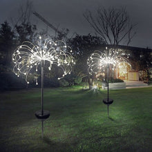 Load image into Gallery viewer, 2/1 PCS New Garden Solar Light Firework String Light Globe Dandelion Lamp For Garden Lawn Landscape Lamp Holiday Light Outdoor Patio Pathway Decor 150/120/90/30 LED