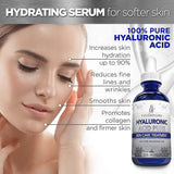 Hyaluronic Acid Serum for Skin - 100% Pure Medical Quality Clinical Strength Formula - Anti Aging Formula 10ml