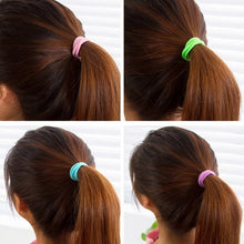 Load image into Gallery viewer, 100Pcs High Quality Elastic Ponytail Accessories Girls Ladies Rubber Band Hair Accessories (Mixed Color)