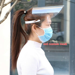 Transparent Anti Droplet Dust-proof Protect Full Face Covering Mask Visor Shield