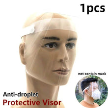 Load image into Gallery viewer, Transparent Anti Droplet Dust-proof Protect Full Face Covering Mask Visor Shield