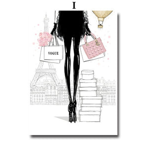 High Heels Girl Fashion Art Wall Art Canvas Painting Nordic Posters and Prints Wall Pictures for Living Room Decor No Frame