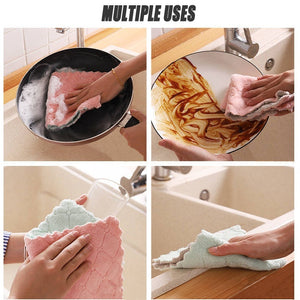 3/10pcs Home Microfiber Towels for Kitchen Absorbent Thicker Cloth for Cleaning Micro Fiber Wipe Table Kitchen Towel