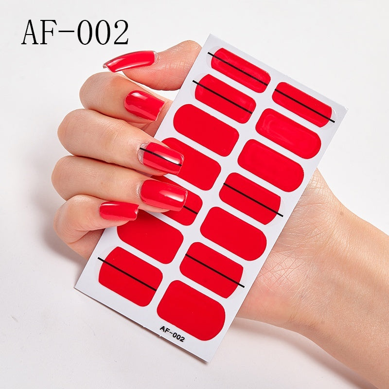 New Japanese Style Designed Nail Art Stickers Full Cover Self-stick Nail Wraps DIY