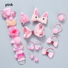 Load image into Gallery viewer, 6/12/18pcs Children Cartoon Hair Clip Girl Gifts Headwear Hairpin Hair Rope Accessories Hair Ring Circle Kids Lovely Rubber Band 7Colors