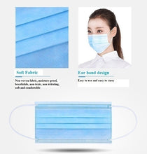 Load image into Gallery viewer, 30\/20\/10Pcs 3 Layer Kid\/Adult Disposable Elastic Mouth Soft Breathable Blue Soft Breathable Flu Hygiene Child Kids Face Mask Random Color