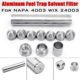 1/2 Set 1/2-28 or 5/8-24 Car Fuel Filter for NAPA 4003 WIX 24003 Fuel Trap Solvent Filters 7075 Aluminum 6061-T6 Aluminum (4 Colors)