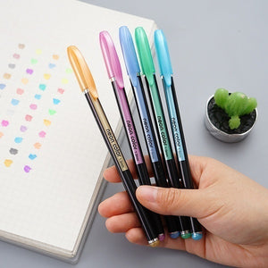 12/16/18/24/36/48 Pieces/Lot 48 Colors Gel Pens Set Highlighter Marker Pen Watercolor Pen Glitter Gel Pen for Adult Coloring Books Journals Drawing Doodling Art Markers Refill