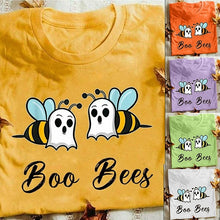 Load image into Gallery viewer, 2020 New Arrival Women's Fashion 'Boo Bees' Printed Funny Graphic T-shirts Women Round Collar Cotton Short Sleeve T-shirts Top Blouse Pullover