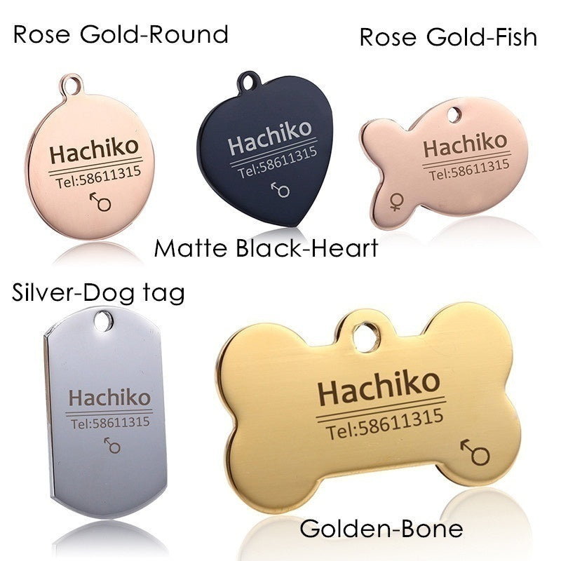 Pet Dog Cat Collar Accessories Decoration Pet ID Dog Tags Collars Stainless Steel Cat Tag Customized Tag How To Customize Reference Description