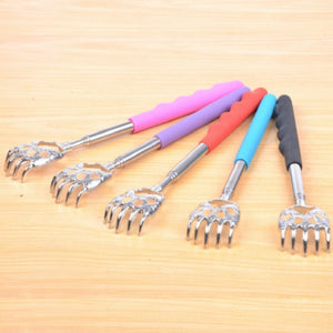 Extendable Handle Stainless Steel Scratcher Bear Claw Back Itching Tickling Healthy Tool