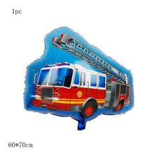 Load image into Gallery viewer, Vehicle series balloons Happy Birthday kids Ice cream cart Party Decorations car baby gift tractor bulldozer Fire truck globs