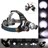 New High-light Headlight Three Wick Combination Rechargeable Outdoor Riding Night Fishing Head Miner's Lamp