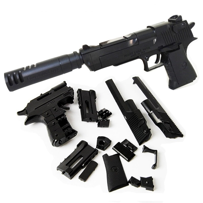 2019 NEW Building Blocks Toy Gun Desert Eagle Assembly Toy Kids DIY Puzzle Brain Game Model  with Instruction Book (Internal parts 43pcs)