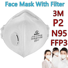Load image into Gallery viewer, 20Pack  FFP1 FFP2 FFP3 Face Mask Respirator Airborne Coronavirus Bushfires Flu Face Mask With valve