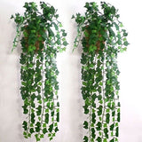 1/6/12PCS Artificial Ivy Leaf Garland Plants Vine Fake Foliage Flowers Home Decoration