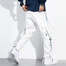 Load image into Gallery viewer, Men Cargo Joggers Casual Buckle Multi Pocket Cargo Pants Loose Hip Hop Street Style Man Pants