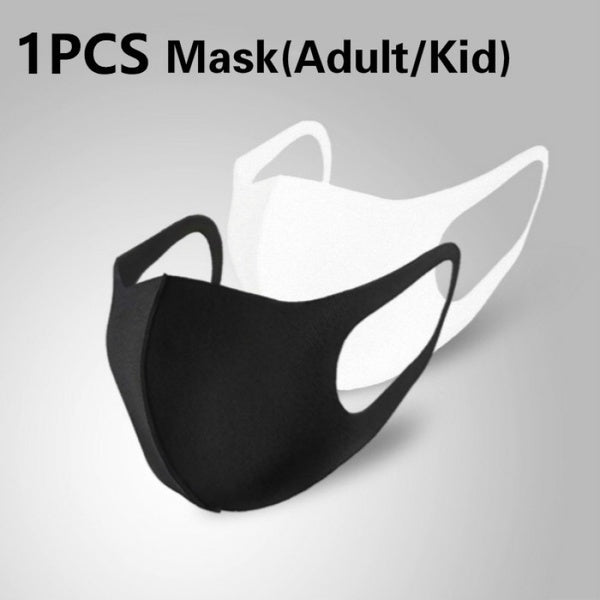 1 Pcs 3D Ultra-thin Breathable Dustproof Mouth Mask Anti-Dust Haze Pm2.5 Flu Allergy Protection Face Masks Gauze Mask (Adult/Kid)