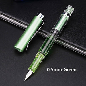 1 Pcs Fashion Color Gradient Fountain Pen Calligraphy Adjuster Pen Gift Fountain Pen Stationary Office Writing Pen