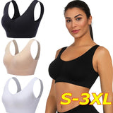2020 New Seamless Stretch Plus Size Bras V Neck Comfortable Bra Body Shaper Push Up Activewear Bra