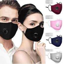 Load image into Gallery viewer, 2 in 1 PM2.5 Anti Haze Mask Breath Valve Cotton Masks Anti-dust Mouth Mask Winter Earmuff Activated Carbon Filter Respirator