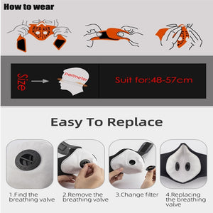 High Quality Breathable Valve Mask N95 Mask with Filter - Outdoor Protection Anti Virus