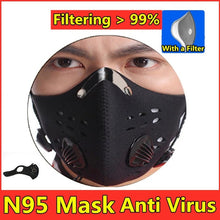 Load image into Gallery viewer, High Quality Breathable Valve Mask N95 Mask with Filter - Outdoor Protection Anti Virus