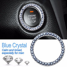 Load image into Gallery viewer, 40mm/1.57' Auto Car Bling Decorative Accessories Automobiles Start Switch Button Decorative Diamond Rhinestone Ring Circle Trim