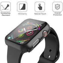 Load image into Gallery viewer, Case+Tempered Glass for Apple Watch 40mm 44mm Series 5 4 Screen Protector Coverage Bumper Case for Iwatch Series 3 2 1 38mm 42mm