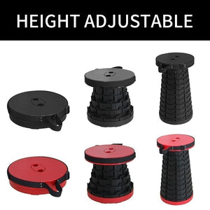 NEW  Portable Telescoping Stool Retractable Folding Garden Camping Stools Seat for Fishing Hiking Traveling Outdoor Activities