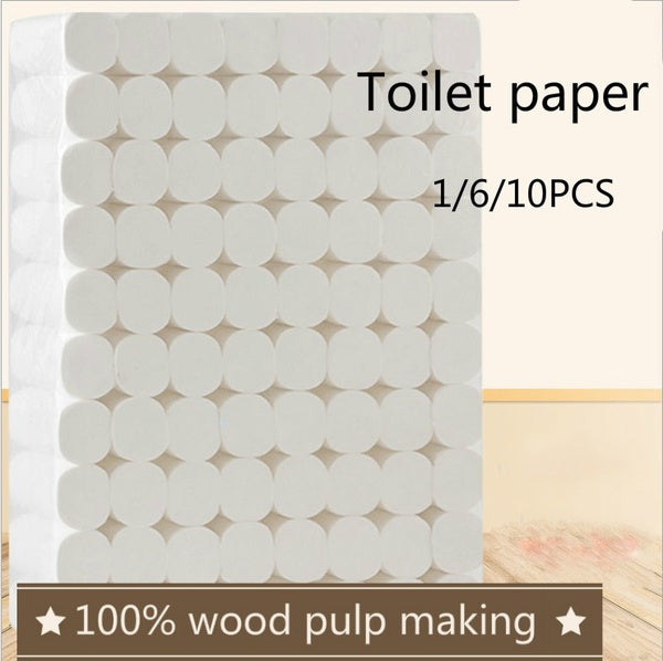 1/6/10 Rolls/Lot Toilet Roll Paper 4 Layers Home Bath Toilet Roll Paper Primary Wood Pulp Toilet Paper
