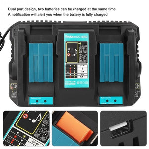 Makita 14.4V / 18V Current Indicator USB Connection DC18RC Multi-functional Double/Single Li-ion Battery Charger