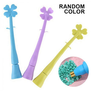 1Pc Random Color Crafts Double Head Diamond Painting Cross Stitch Point Drill Pen Round Embroidery Tool