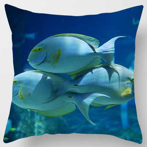 Underwater world, turtles. Printed pillowcase (45cm-45cm) (18 inches-18 inches)