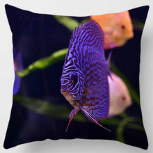 Load image into Gallery viewer, Underwater world, turtles. Printed pillowcase (45cm-45cm) (18 inches-18 inches)