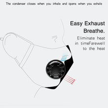 Load image into Gallery viewer, Anti-fog Haze Dust PM2.5 Washable Dustproof Mouth Mask With Breathable Valve
