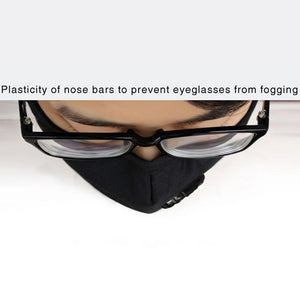Anti-fog Haze Dust PM2.5 Washable Dustproof Mouth Mask With Breathable Valve