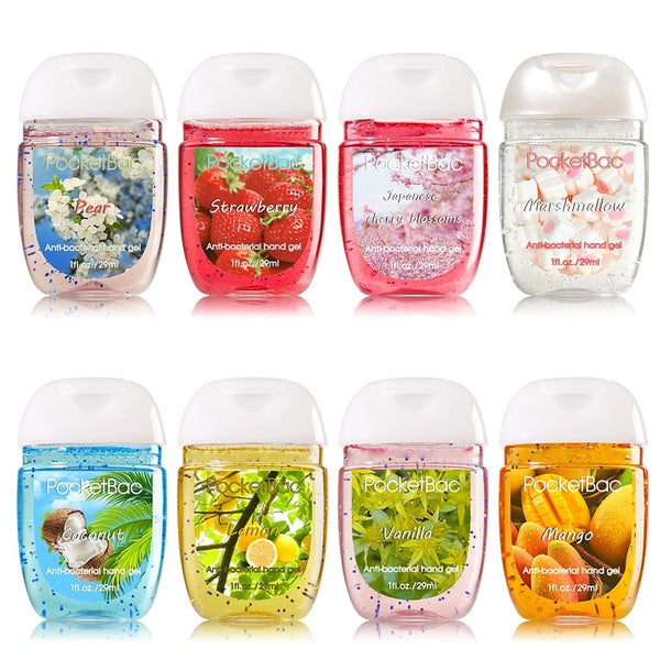 Travel Portable Mini Hand Sanitizer Anti-Bacteria Moisturizing Fruit-Scented Disposable No Clean Waterless Clear Bottle Shampoo Cleansing Fluid JOP