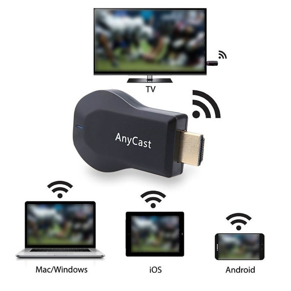Wireless Display Receiver WiFi Dongle Screen Mirror 1080P HDMI TV Stick Support Airplay DLNA Miracast