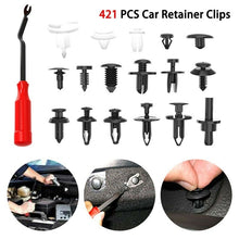 Load image into Gallery viewer, 100/421/425 Pcs Mixed Plastic Car Body Push Retainer Pin Rivet Bumper Door Trim Moulding Clip Panel Retainer Fastener Kit