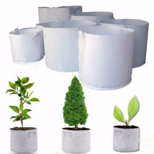 Round Fabric Pots Root Container Plant Pouch Grow Bag Container