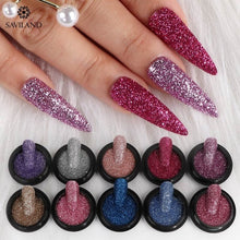 Load image into Gallery viewer, SAVILAND 10 Colors Shinny Nail Glitter Powder DIY Sparkly Pigment Flakes Nail Art Accessories for Nail Design Summer Fashion