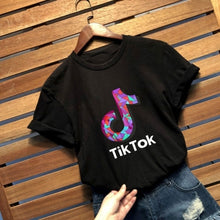 Load image into Gallery viewer, New Fashion Round Neck Tik Tok Letter Printed Short Sleeve T-Shirt Casual Men Women Tee Tik Tok Logo Loose Tee Top Plus Size S-5XL