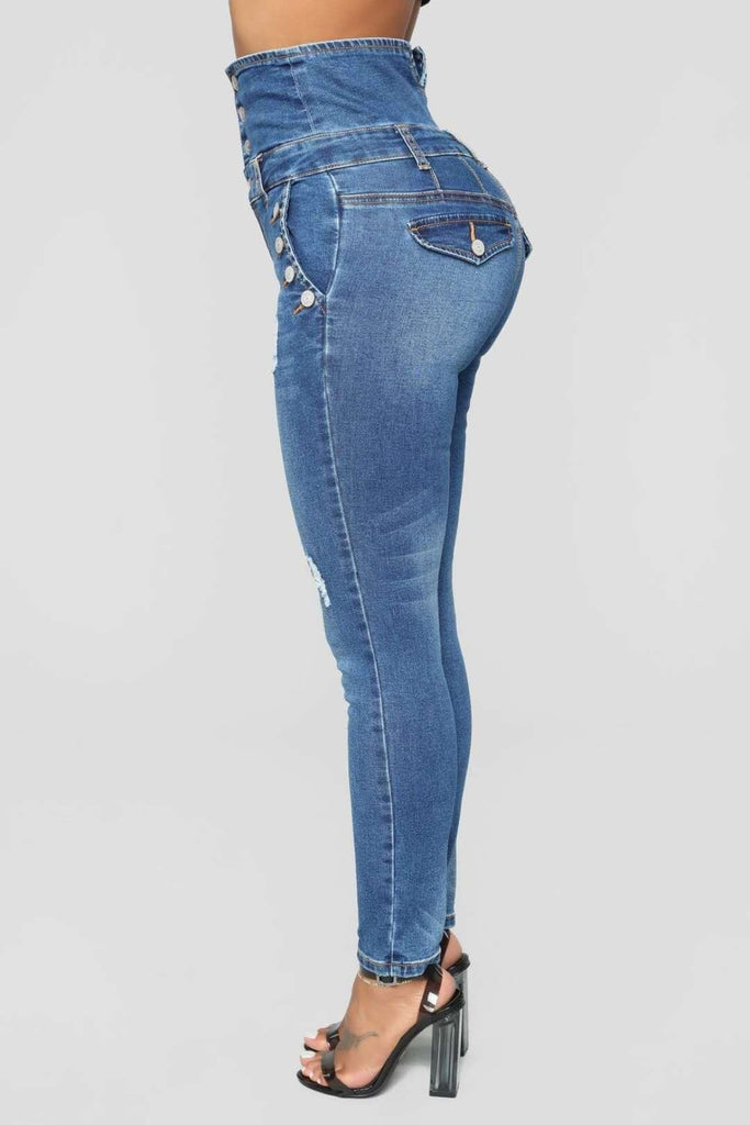 Fashion High Waist Skinny Denim Pants High Quality Women Casual Bodycon Pencil Pants