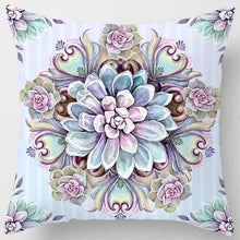 Load image into Gallery viewer, Fashion flower square pillowcase (45cm * 45cm)
