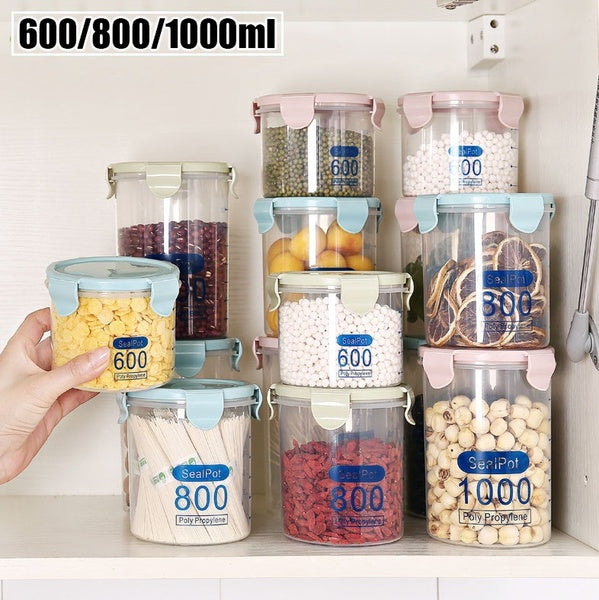 Transparent Plastic Food Storage Seal Pot Fresh Box Storage Containers 3 Size