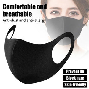 1/3/6Pcs Black 3D Ultra-thin Anti Pollution Mask Replacement Mask Carbon Activated Air Mask Sport 3 Layers Dustproof Mask